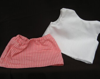 "Doll skirt and top -- fits 18"" doll"