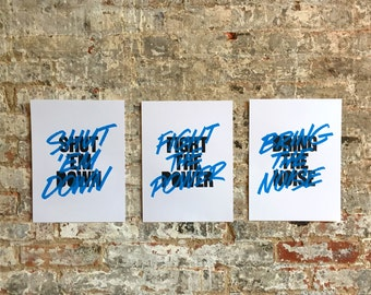 Bring the Noise - print set of 3