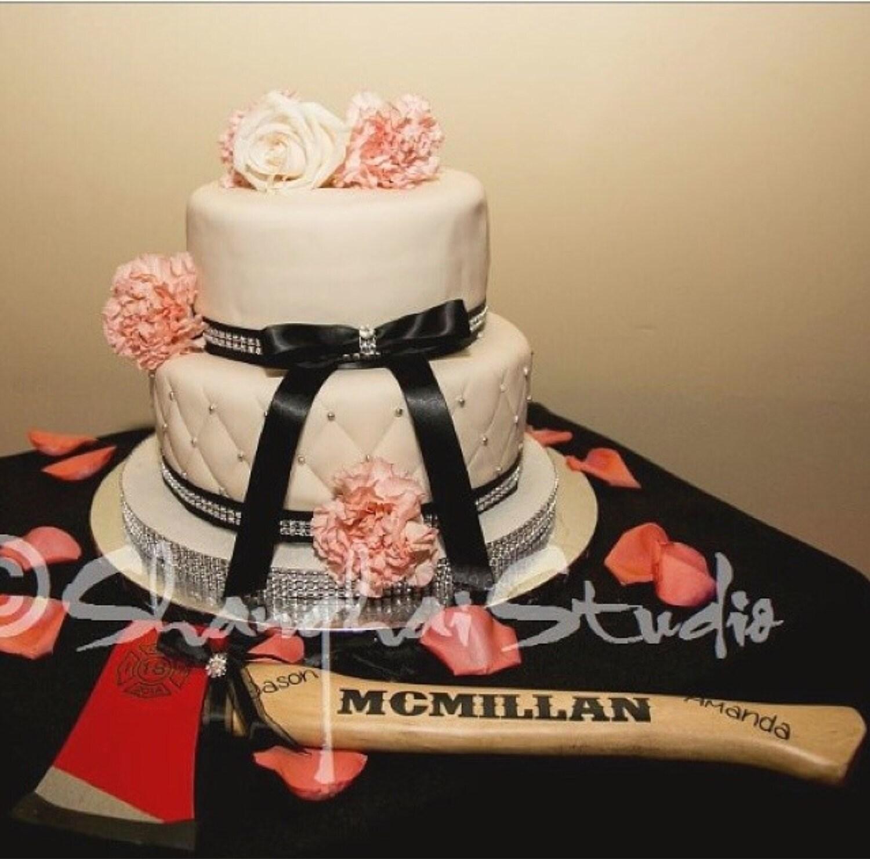Customized Firefighter Axe Wedding Cake Cutter