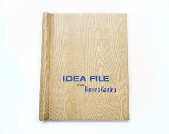 Idea File Binder, House & Garden, Spring Clamp Spine