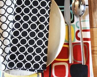 Cotton Handmade Placemats  - Kandinsky Design - Set of 4