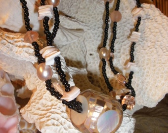 Tropical Three Strand Necklace