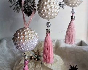 Xmas Tree ornaments set Tree hanging ornaments Christmas tree ball ornaments pearl Christmas gift idea Gift friends Little holiday gift