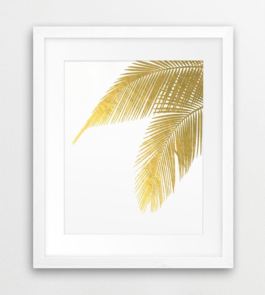 Palm Leaves Palm Prints Leaf Print Gold Leaves Tropical