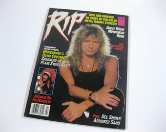 Vintage RIP Magazine ~ February 1988 ~ Whitesnake, Dee Snider, Great White