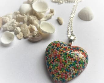 Candy Heart Pendant, candy, Resin Pendant