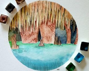 Mammoth Cave (Original Watercolor)