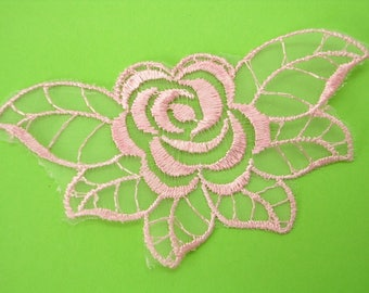 APPLIQUE lace fabric: rose pink 90 * 50mm