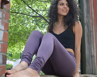 Organic cotton leggings *new colors * ruched ankle leggings - super soft leggings