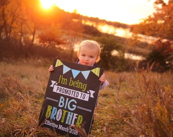Promoted to Big Brother Announcement, Pregnancy Announcement, Brother Photoshoot Prop, Promoted to Big Brother sign, DIY Printable