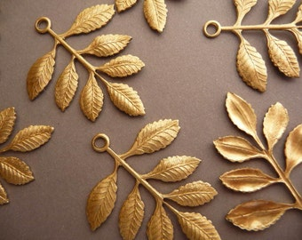 4 Brass Leaf Branch - Beautiful Detail