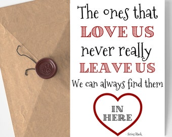 Harry Potter Inspired Printable Card - Sirius Quote - The Ones That Love Us