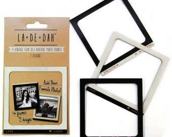 "Set of 4 photo frames wall decal ""La De Dah"" decor scrapbooking (ref.110). *."