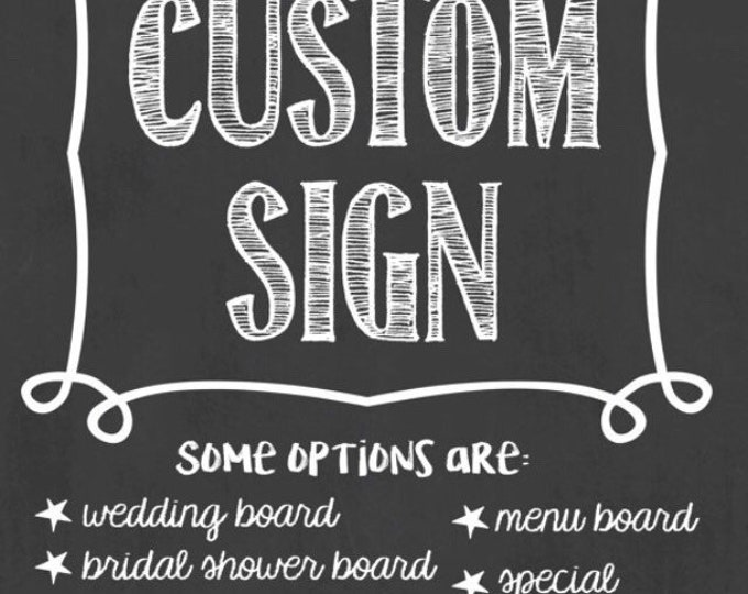 Custom Order (specific customer only)