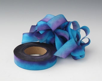 Silk Ribbon Hand Dyed bias-cut