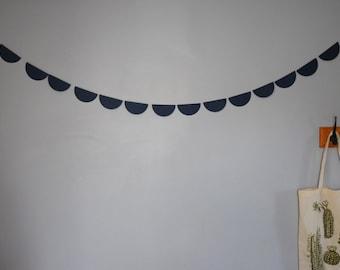 paper half circle garland