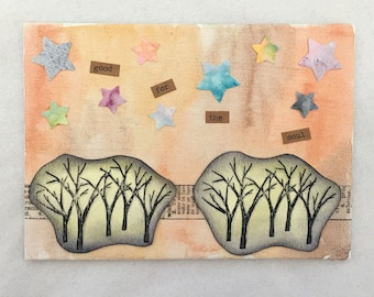 Good For the Soul - Trees in Fall Mixed Media Canvas