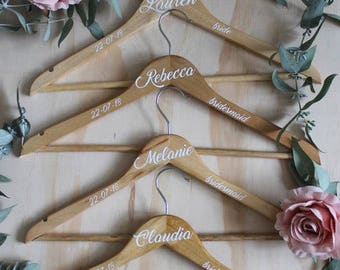 Wedding Hangers, Bridal Party Coathanger, Personalised Hanger, Bridesmaid Dress Hanger, Bridal Party Hangers, Wedding Dress Hanger