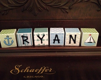 Personalized Wooden Blocks- 2x2 Cube-Set of 6