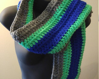 Handmade Seattle Seahawks scarf
