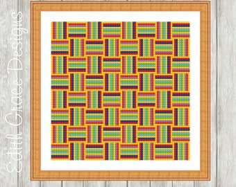 Needlepoint Pattern - Geometric Art - Tapestry Pattern - Canvas Work - Sampler - Embroidery Design - Counted Chart - Sewing - Modern Art