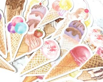 Set of 30 Ice Creams Bookmarks - Ice Cream Bookmarks - Ice Creams Bookmark - Ice Cream Bookmarks Set