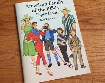 Vintage 1994 American Family of the 1950s Paper Dolls Tom Tierney UNCUT VGC / Collectible Ephemera Toy