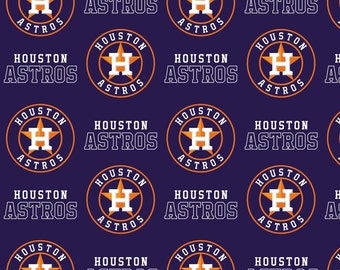 MLB Houston Astros 100% Cotton Fabric by the yard