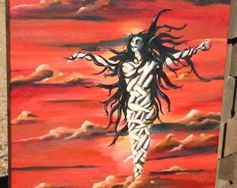 "Original Surreal Painting ""Bound - Unbound"" Oil on Canvas"