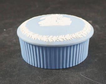 WEDGWOOD Blue Jasperware Round Bon Bon