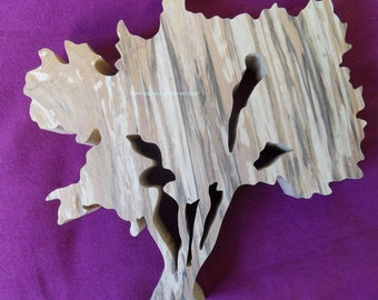 "WALL decor tree ""tamarisk"" solid wood with its base to stick"