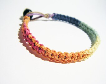 Rainbow Hemp Bracelet, lgbt bracelet