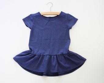 Girls Clothing, Girls Peplum Cap Sleeve Tee, Girls Clothing, Baby Clothing, Ruffle Tee, birthday shirt, Kids Apparel, Hi Lo Girls Tee