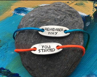 """Pair of Shoe Tags """"Remember Why You Started"""""""
