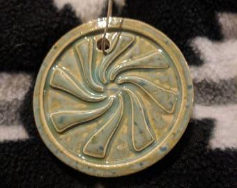 Peppermint Ceramic Ornament