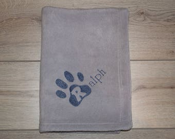 Personalised Dog Blanket, Puppy Blanket  Dog Throw, Custom Dog Blanket,  Dog Gift, Dog Lovers Gift, Various Colours,  Available 100cm x 72cm