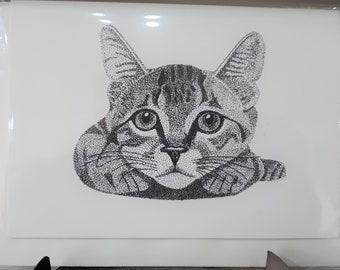 Cat Card pointillism