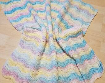 Pastel ripple blanket