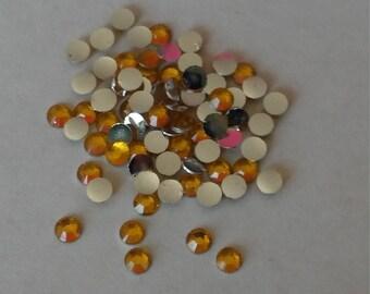 3mm rhinestone gems orange flatback round for crafts wedding party 2000pcs