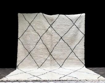 Gorgeous Beni Ourain rug 10x13, Moroccan Rug, Berber Rug, Pastel Rug, Minimalist Rug, Boho Rug, Kitchen Rug, Bathroom Rug, Neutral Rug, Boho