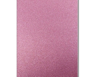 2 x A4 sheets of Premium Dovecraft Princess Pink Glitter Card 220 gsm