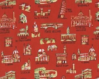 Italian Buildings in Red from Va Bene! by Dear Stella