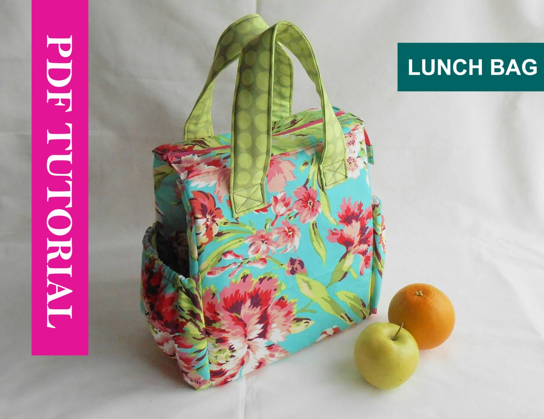 Insulated lunch bag pdf pattern tote bag sewing pattern pdf zoom jeuxipadfo Choice Image