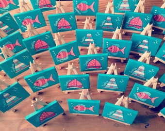Nautical mini canvases