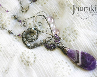 SALE 50% OFF Meghavat Gagana /// Necklace by Jhumki Luxe - designs by raindrops