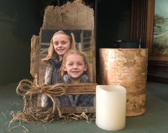 Rustic Reclaimed Wood Picture Frame for 4 x 6 Photos