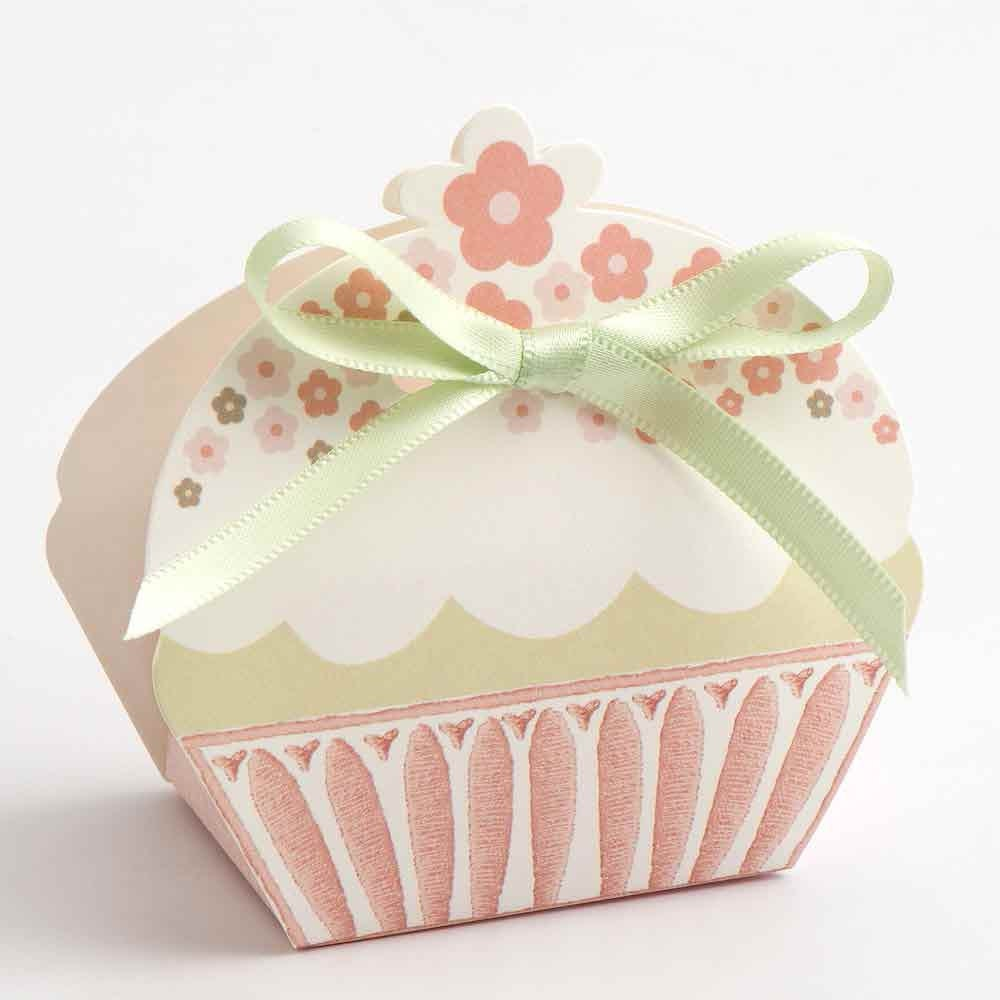 10 x Cupcake Wedding Favour Boxes available in Pink or Taupe