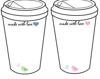Crochet Coffee Cup Cozy  To Go Cup Template Inserts Printable Holder