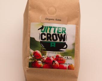 Freshly Roasted Organic KONA Single Origin  Gourmet Coffee  12 oz