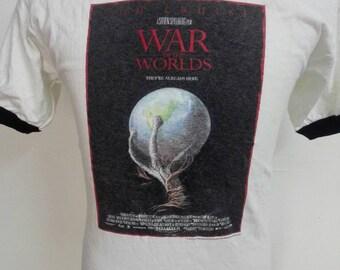 Vintage War of The Worlds Movie Tshirt Size Medium